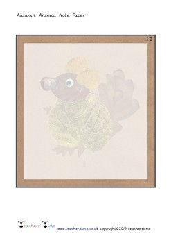 Autumn Themed Note Paper