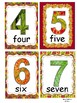 Autumn Themed Number Display and Activity Cards