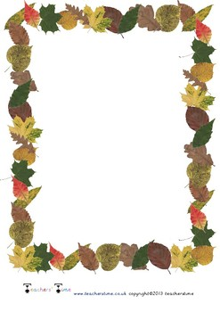 Autumn Themed Paper