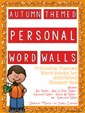 Autumn Themed Personal Word Walls {Printable Word Banks: Individual Student Use}