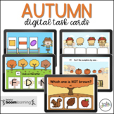 Autumn Themed Preschool Boom Cards™ for Distance Learning