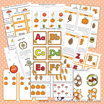 Montessori Inspired Autumn Early Learning BUNDLE Pack