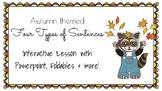 Autumn Themed Types of Sentences Practice
