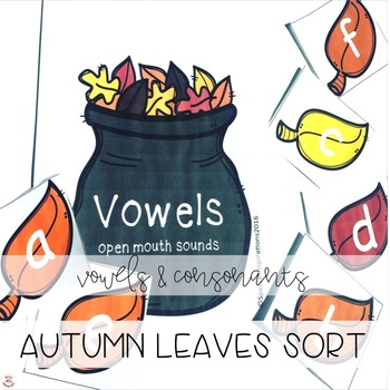 Autumn Themed Vowels and Consonants Sorting Center (Orton-Gillingham Inspired)