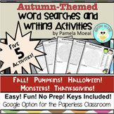 Autumn-Themed Word Searches and Writing Activities!