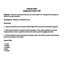 "Autumn Themed Worksheet focusing on the prefix ""un"""