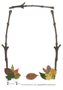 Autumn Themed Writing Frame