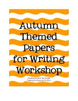 Autumn Themed Writing Workshop Paper ~ Freebie