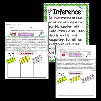 Autumn Themes: Infer! Activity Packet for Fluency & Inference