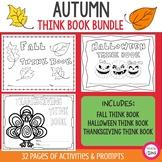 Autumn Think Book Student Journal Bundle- Fall, Halloween