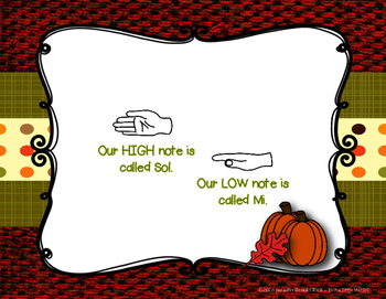 Autumn Time - Pre-reading high low present and practice sol & mi and ta & titi