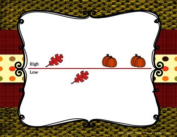 Autumn Time - Pre-reading high low to prepare for sol & mi and ta & titi