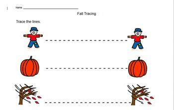 Autumn Tracing Sheets