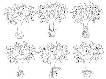 Autumn Tree CVC Words