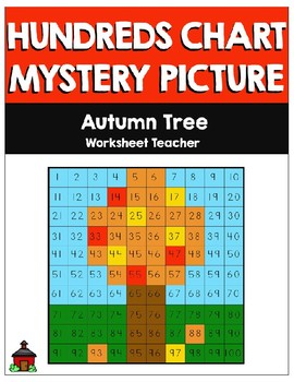 Autumn Tree Hundreds Chart Mystery Picture