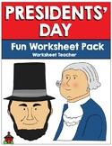 Presidents' Day Fun Worksheet Pack (K-2)