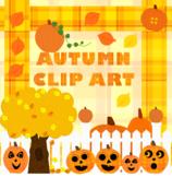 Autumn Clip Art: Pumpkins, Jack-o-Lanterns, Autumn Tree an