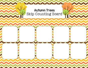 Autumn Trees - Skip Counting by FOURs