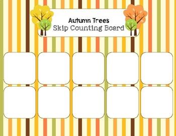 Autumn Trees - Skip Counting by TWOs