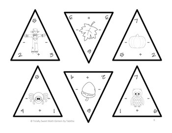 Autumn Triangles- Addition and Subtraction to 20 Edition 1.OA.6