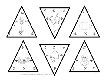 Autumn Triangles- Multiplication and Division Edition Facts 0-12