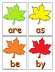 Autumn Trick Word Recognition Center or Whole Group Game for Level 1