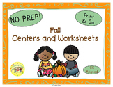 Fall Seasons Worksheets Activities Games Printables and More