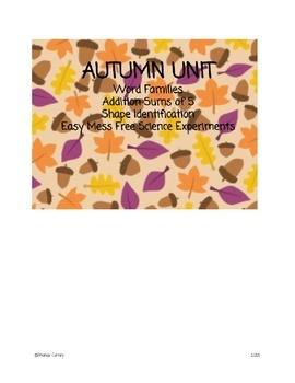 Autumn Unit - Word Families & Shape Identification