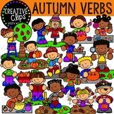 Autumn Verbs: Fall Clipart {Creative Clips Clipart}
