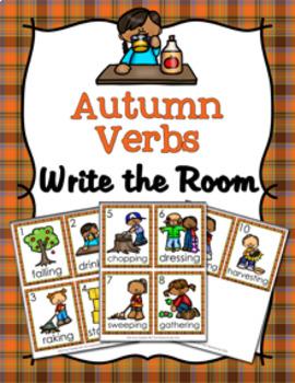 Autumn Verbs Write The Room Activity