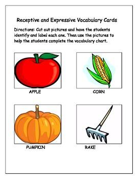 Autumn Vocabulary