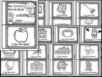 Autumn Vocabulary Activity Pack
