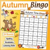 Autumn Vocabulary Bingo (with 24 boards)