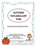 Autumn Vocabulary Fun