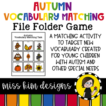 Autumn Vocabulary Folder Game for Students with Autism & Special Needs