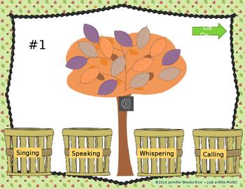 Autumn Voices -- An Interactive Four Voices Recognition Game (calling version)