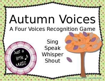 Autumn Voices -- An Interactive Four Voices Recognition Ga