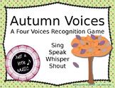Autumn Voices -- An Interactive Four Voices Recognition Game (shouting version)