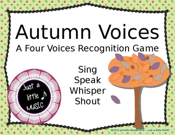 Autumn Voices -- An Interactive Four Voices Recognition Game (shouting version)