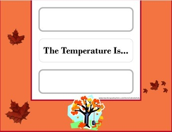 Autumn Weather Chart! Autumn Bulletin Board! Autumn Theme Classroom! Fall!
