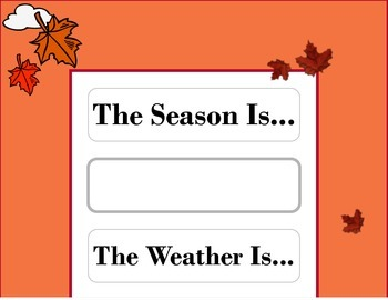 Autumn Weather Chart! Autumn Bulletin Board! Autumn Theme
