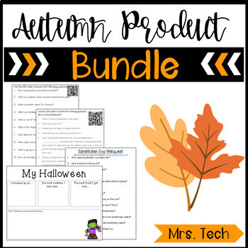 Autumn Webquest/Digital Resource Bundle