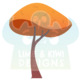Autumn Woodland Trees Clipart, Instant Download Vector Art, Commercial Use Clip