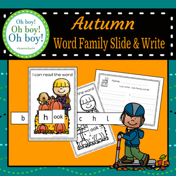 Autumn Word Family Slide & Write