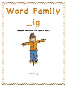 Autumn Word Family /__ig/