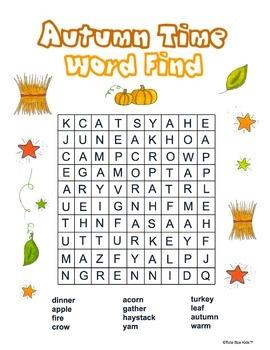 Autumn Word Find