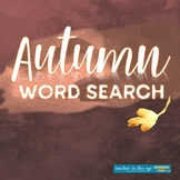 FREE: Autumn Word Search with Bonus Writing Page! Fun Fall Activity!
