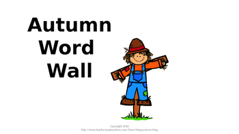 Autumn Word Wall