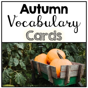 Autumn Word Wall Vocabulary Cards