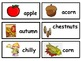 Autumn Word Wall and Word Wall Matching Game